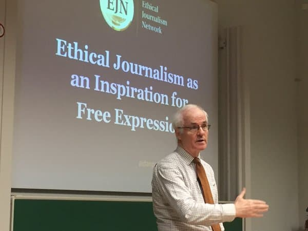 VUB MSc Communications talk on ethical journalism