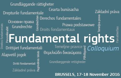Colloquium fundamental rights Brussels 17th to 18th November 2016