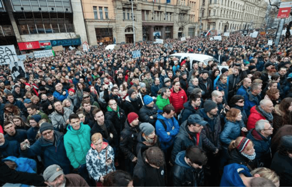 Thousands march as Slovakia reacts to media murder
