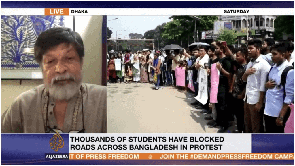 Shahidul Alam interview with Al Jazeera Television (YouTube)